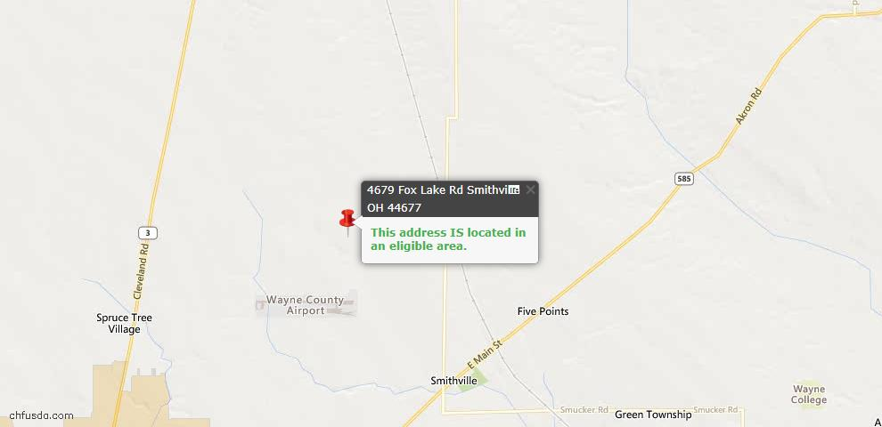 USDA Loan Eligiblity Maps From - Smithville, OH