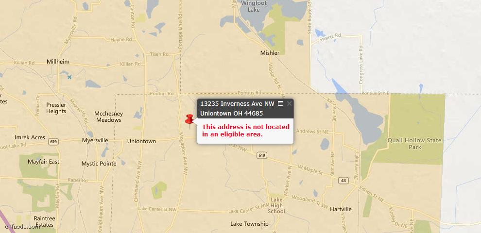 USDA Loan Eligiblity Maps From - 44685, OH