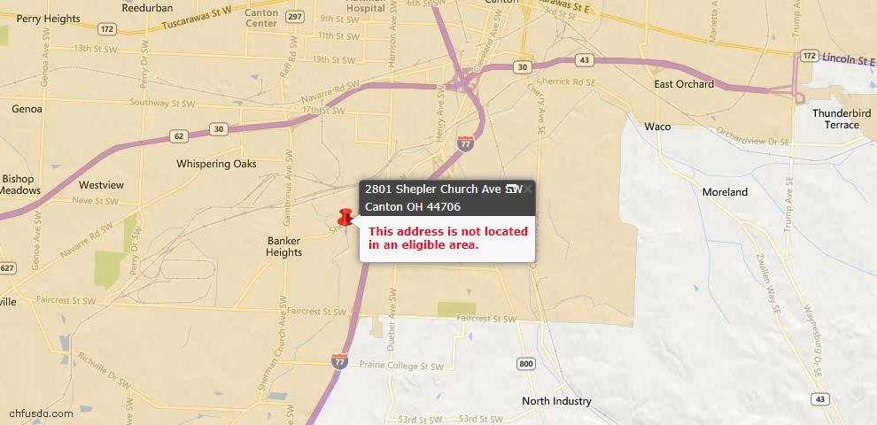 USDA Loan Eligiblity Maps From - 44706, OH