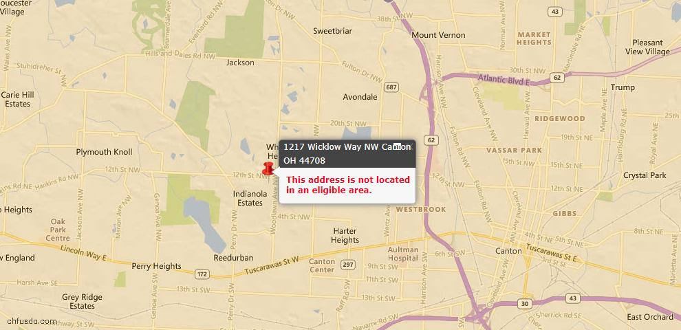 USDA Loan Eligiblity Maps From - Canton, OH