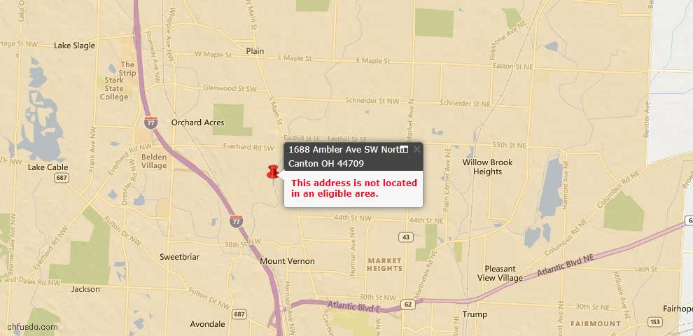 USDA Loan Eligiblity Maps From - North Canton, OH