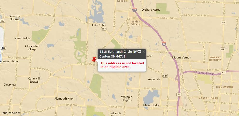 USDA Loan Eligiblity Maps From - Jackson Township, OH