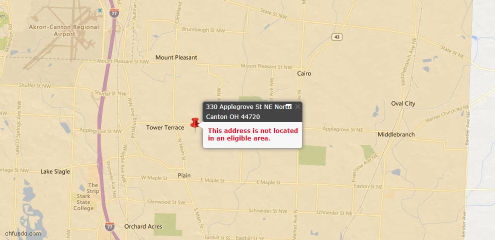 USDA Loan Eligiblity Maps From - 44720, OH
