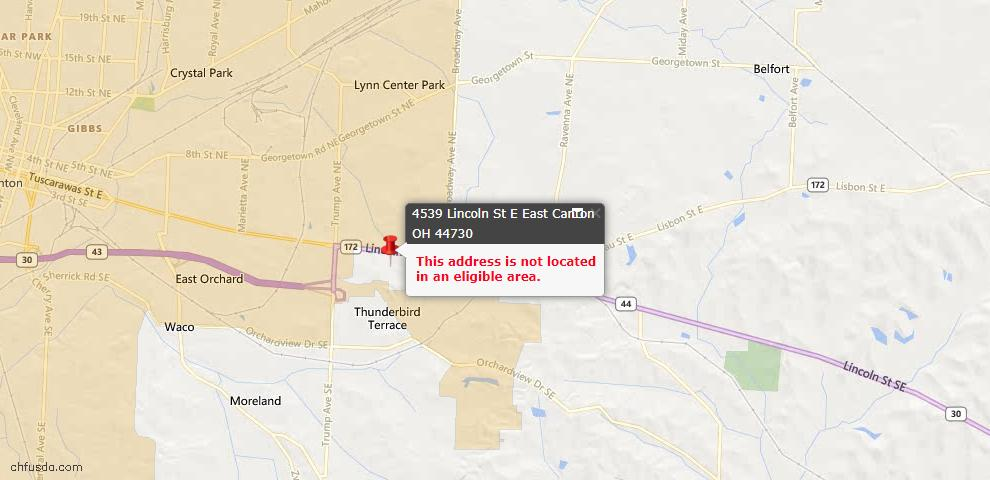 USDA Loan Eligiblity Maps From - East Canton, OH