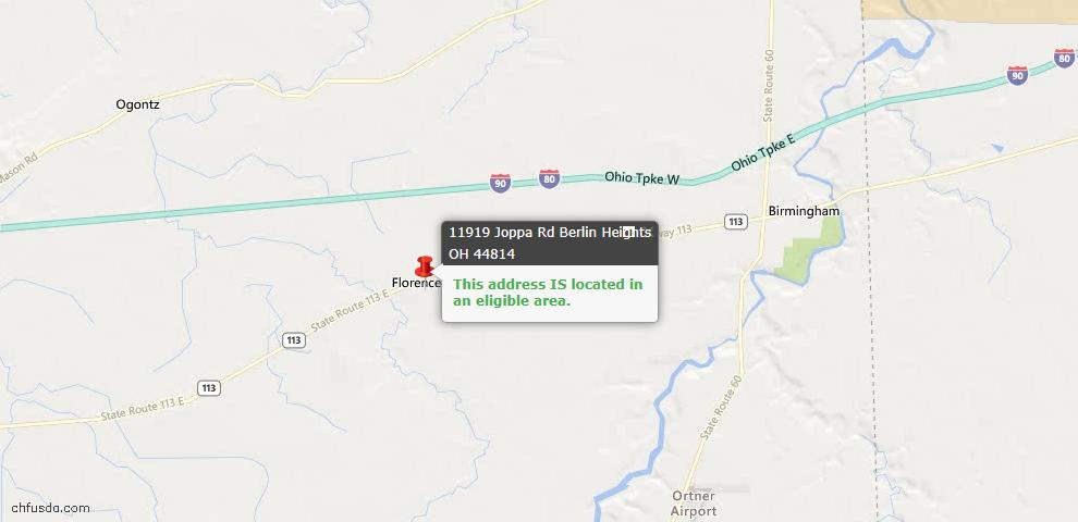 USDA Loan Eligiblity Maps From - Berlin Heights, OH