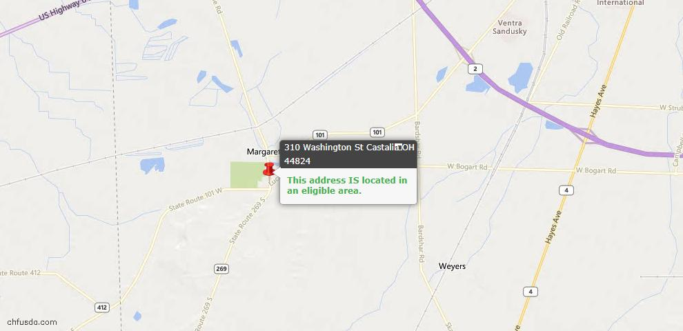 USDA Loan Eligiblity Maps From - Castalia, OH
