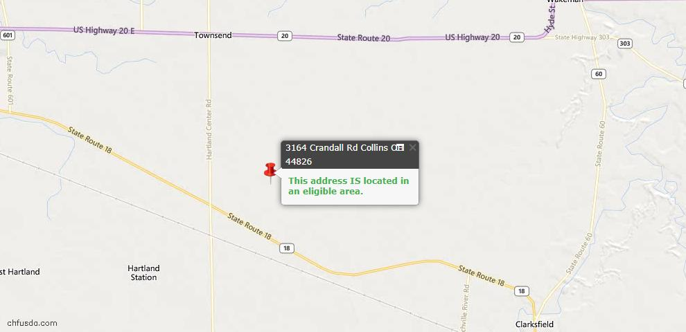 USDA Loan Eligiblity Maps From - Collins, OH