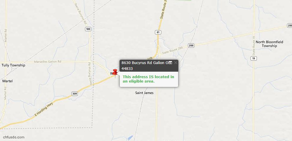 USDA Loan Eligiblity Maps From - Galion, OH