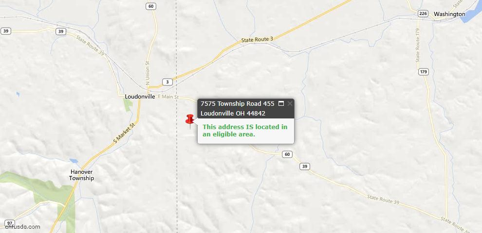 USDA Loan Eligiblity Maps From - Loudonville, OH