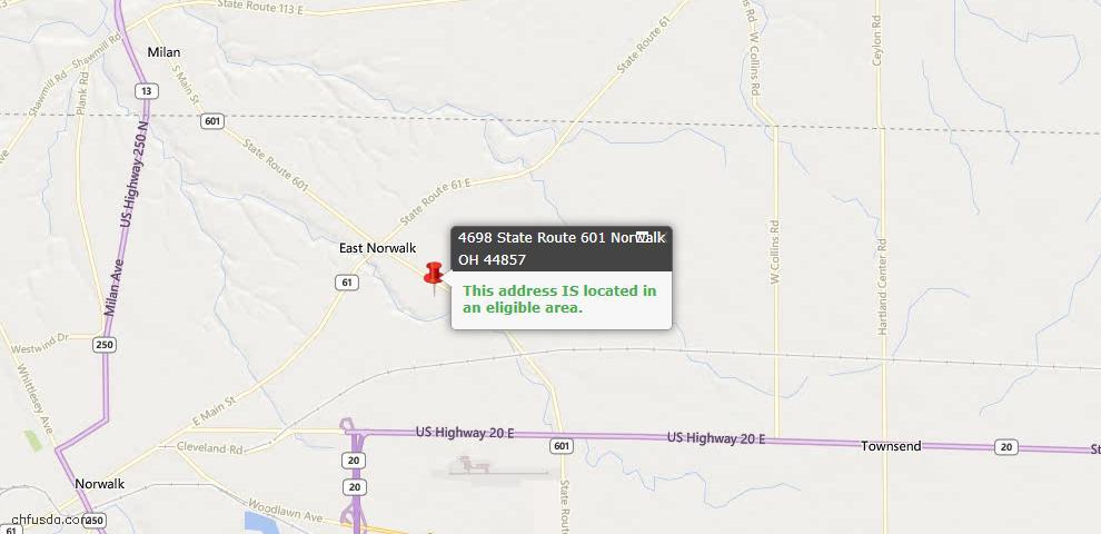 USDA Loan Eligiblity Maps From - Norwalk, OH