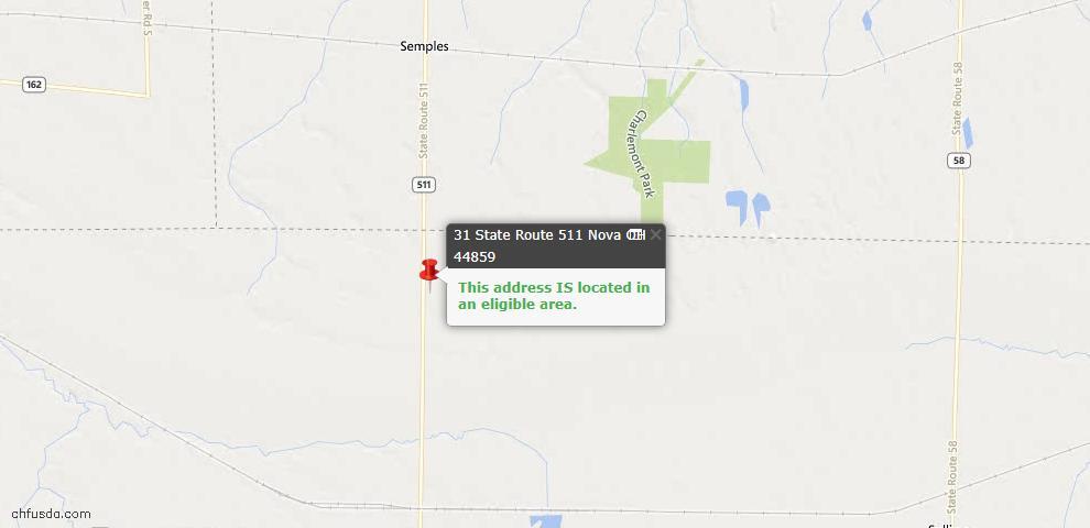 USDA Loan Eligiblity Maps From - Nova, OH