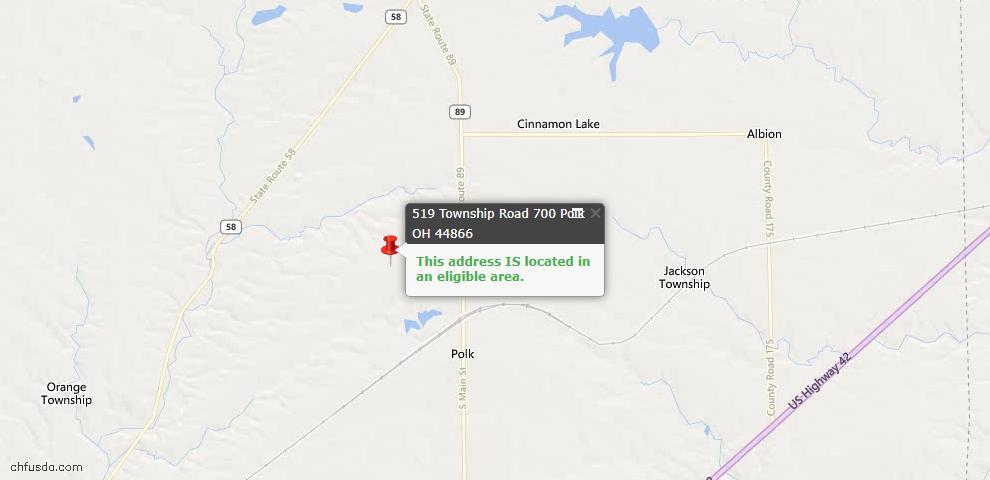 USDA Loan Eligiblity Maps From - Polk, OH