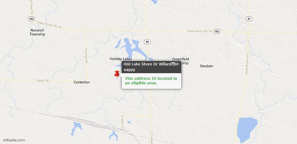 USDA Loan Eligiblity Maps From - Willard, OH