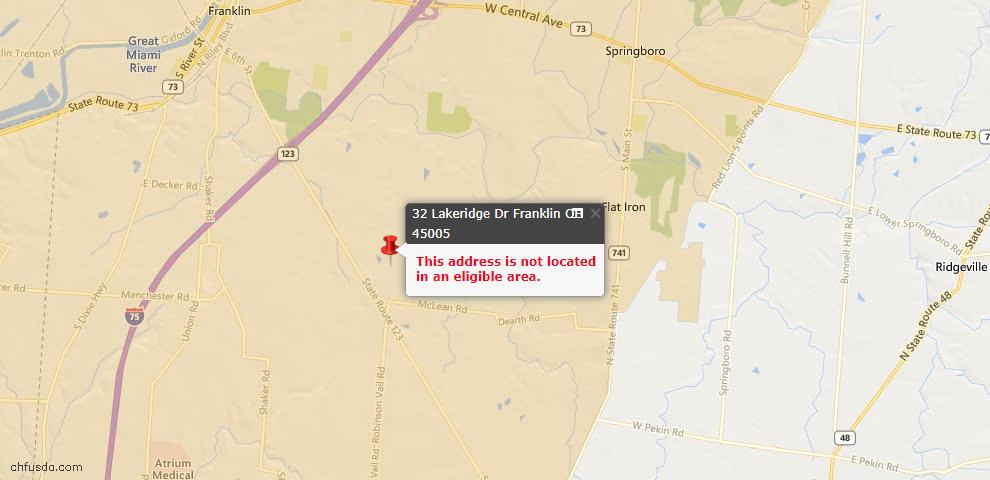 USDA Loan Eligiblity Maps From - Franklin, OH