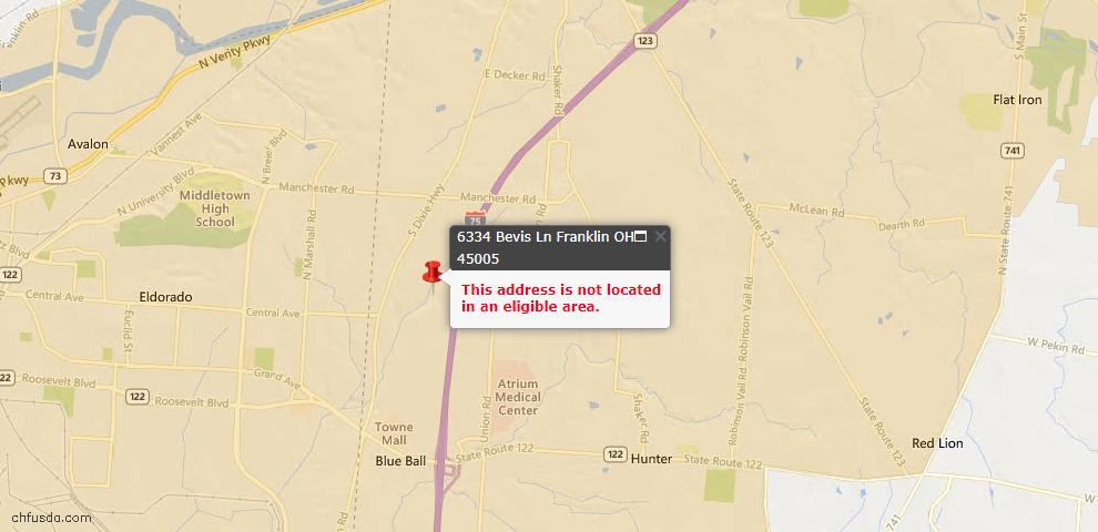 USDA Loan Eligiblity Maps From - Franklin Twp, OH