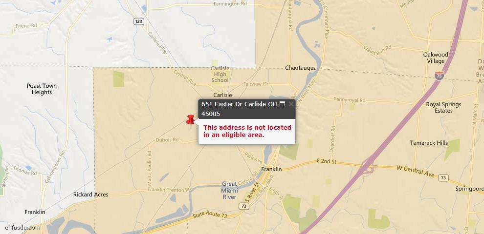 USDA Loan Eligiblity Maps From - Carlisle, OH