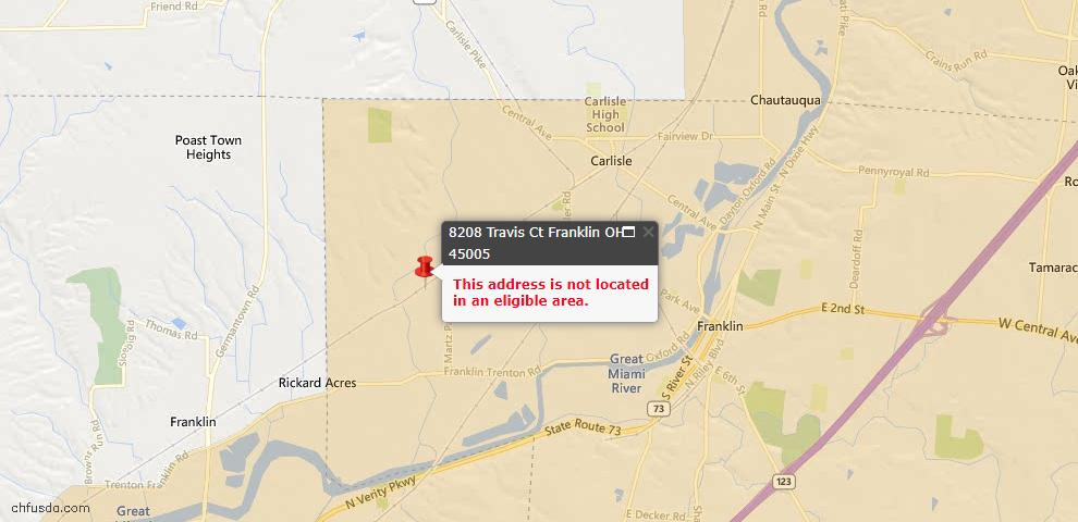 USDA Loan Eligiblity Maps From - Franklin Township, OH