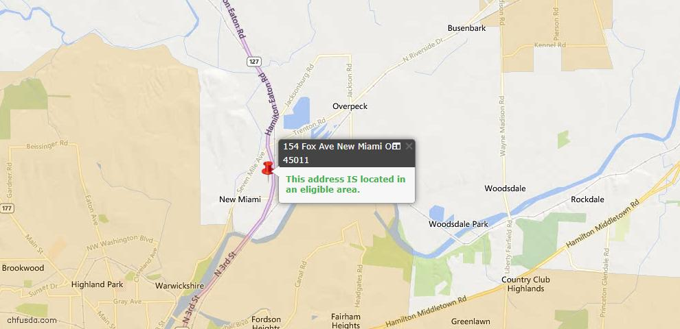 USDA Loan Eligiblity Maps From - New Miami, OH