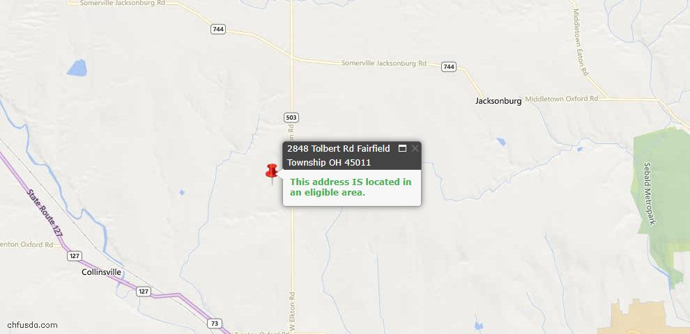 USDA Loan Eligiblity Maps From - Wayne Twp, OH