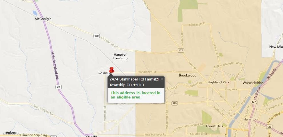 USDA Loan Eligiblity Maps From - Hanover Twp, OH
