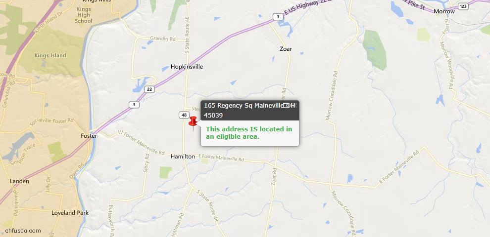 USDA Loan Eligiblity Maps From - Hamilton Twp, OH