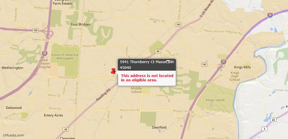 USDA Loan Eligiblity Maps From - Mason, OH