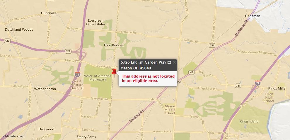 USDA Loan Eligiblity Maps From - Deerfield Twp., OH