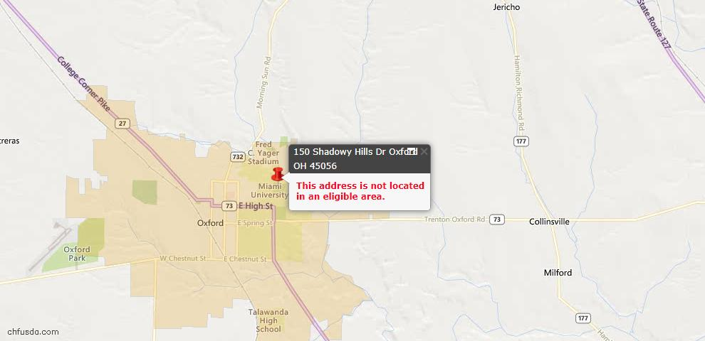 USDA Loan Eligiblity Maps From - Oxford Twp, OH