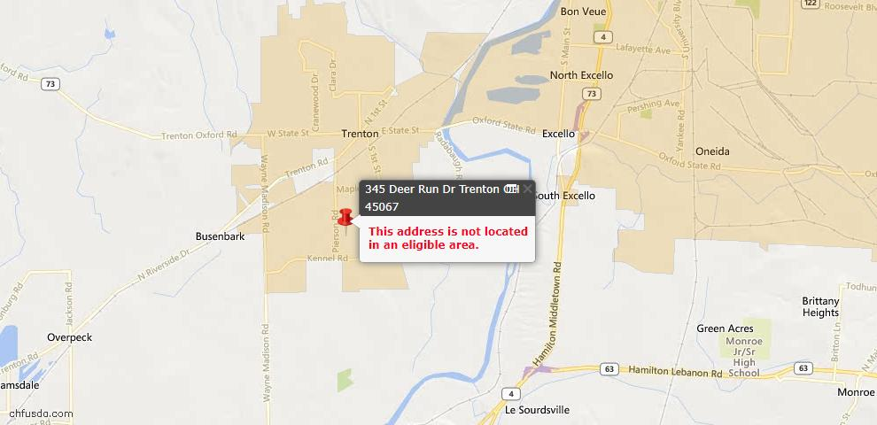 USDA Loan Eligiblity Maps From - Trenton, OH