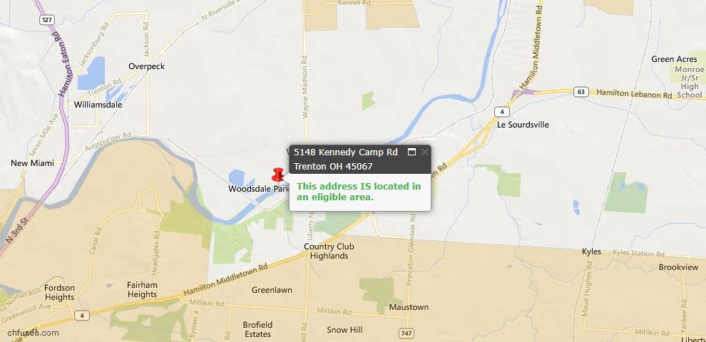 USDA Loan Eligiblity Maps From - St Clair Twp, OH