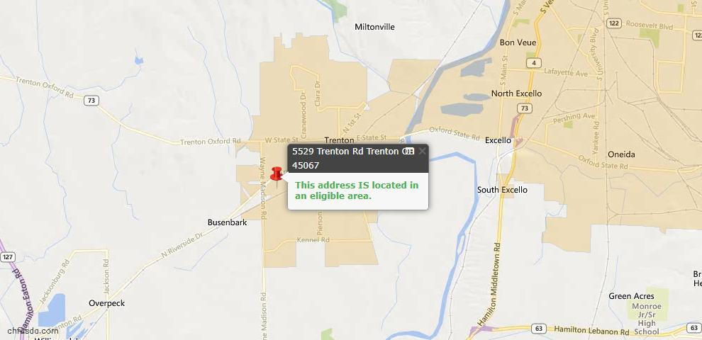 USDA Loan Eligiblity Maps From - Madison Twp, OH