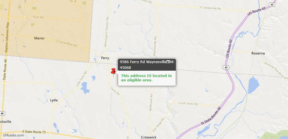 USDA Loan Eligiblity Maps From - Wayne Township, OH