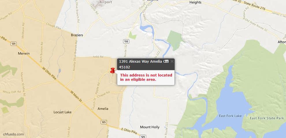 USDA Loan Eligiblity Maps From - Batavia Twp, OH