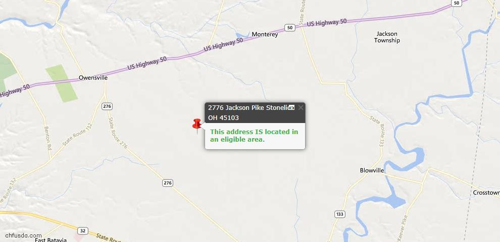 USDA Loan Eligiblity Maps From - Stonelick Twp, OH