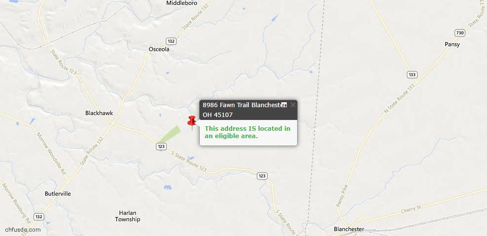 USDA Loan Eligiblity Maps From - Harlan Twp, OH
