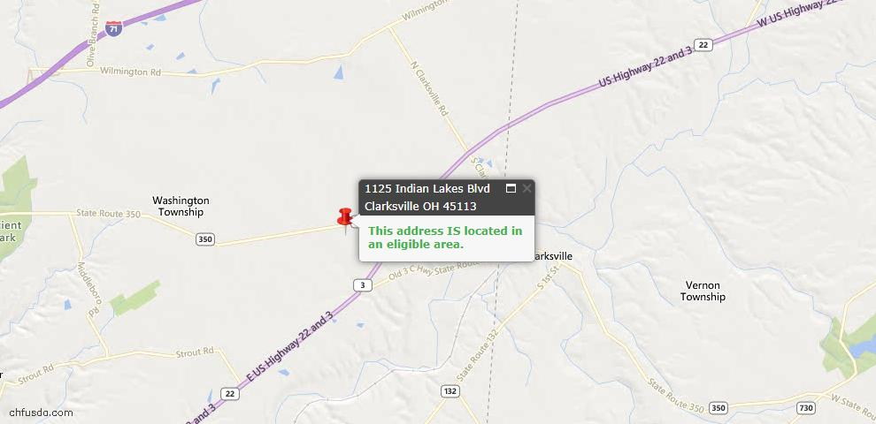 USDA Loan Eligiblity Maps From - Clarksville, OH