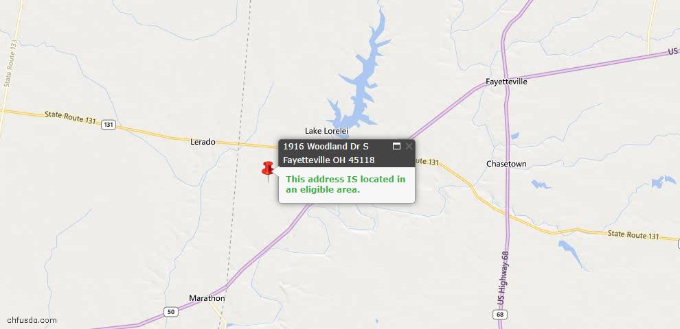 USDA Loan Eligiblity Maps From - Perry Twp, OH