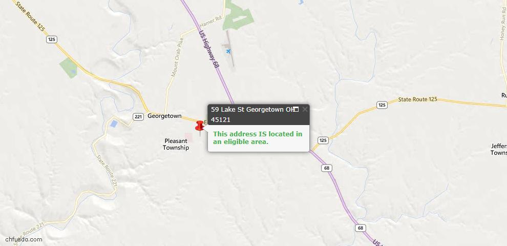 USDA Loan Eligiblity Maps From - Georgetown, OH