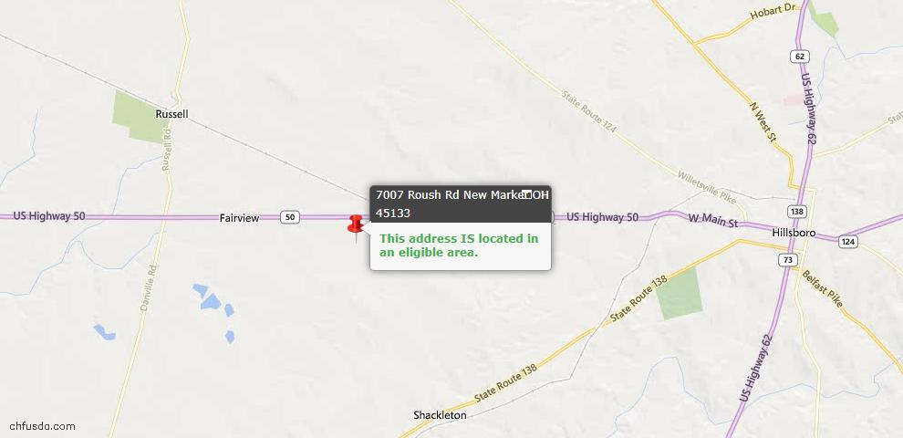 USDA Loan Eligiblity Maps From - New Market Twp, OH