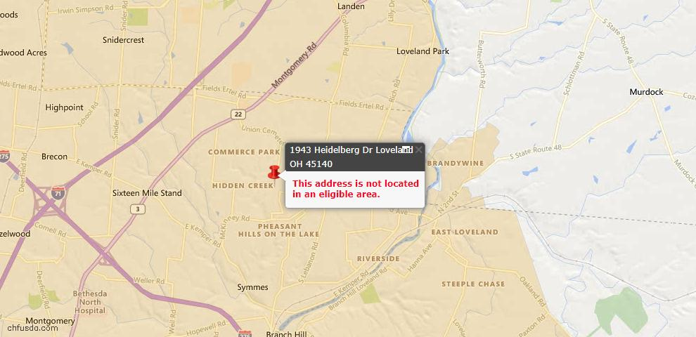 USDA Loan Eligiblity Maps From - Hamilton County, OH