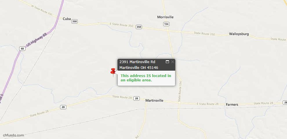 USDA Loan Eligiblity Maps From - Clark Twp, OH
