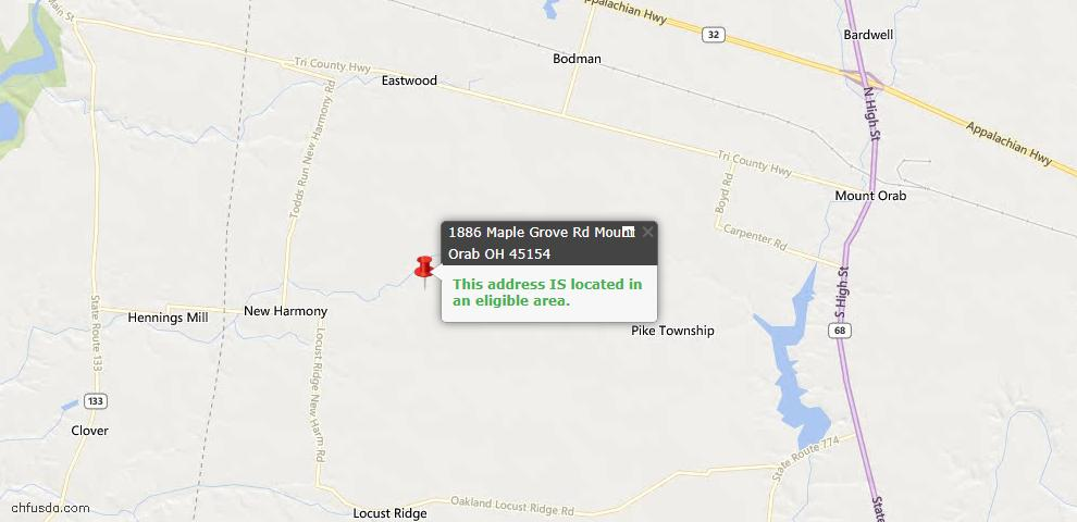 USDA Loan Eligiblity Maps From - Pike Twp, OH