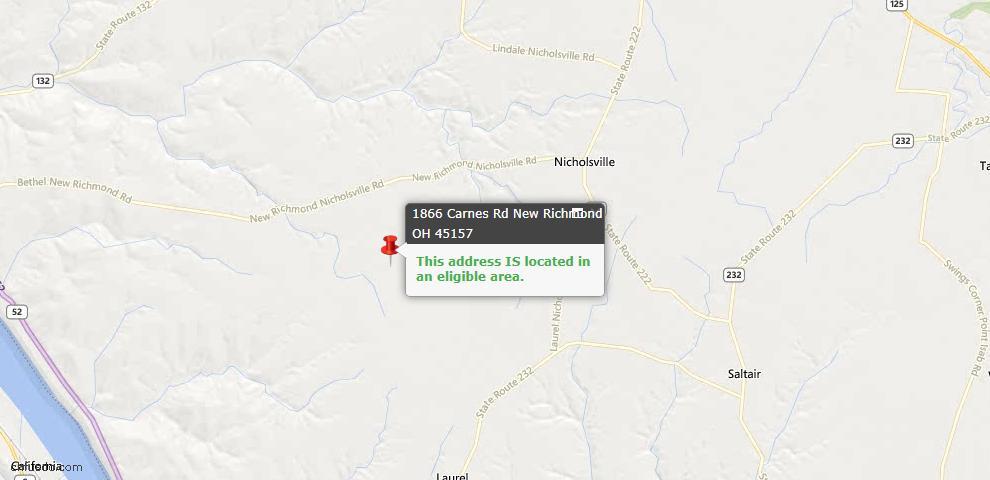USDA Loan Eligiblity Maps From - New Richmond, OH