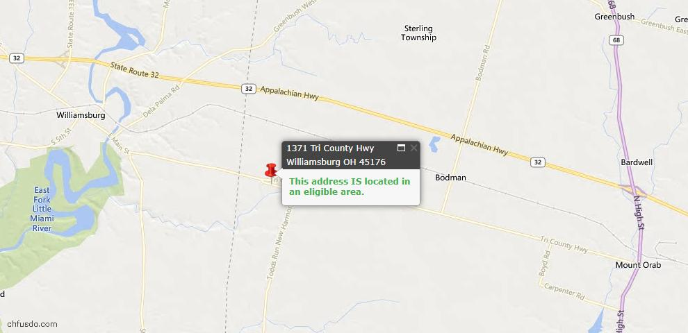 USDA Loan Eligiblity Maps From - Sterling Twp, OH