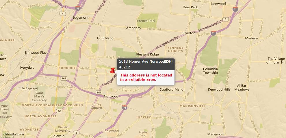 USDA Loan Eligiblity Maps From - Norwood, OH