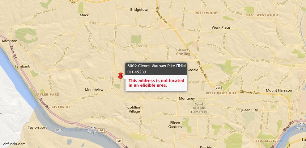 USDA Loan Eligiblity Maps From - Delhi Twp, OH