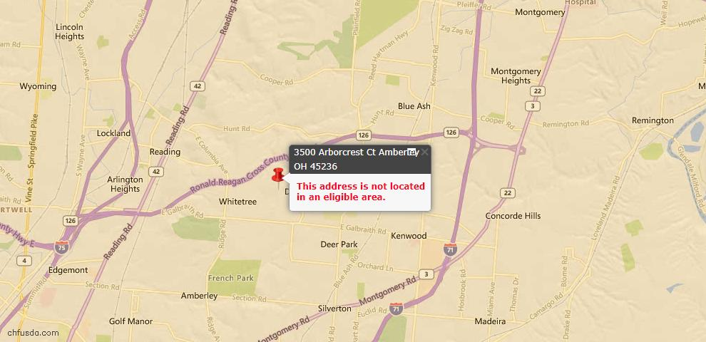 USDA Loan Eligiblity Maps From - Amberley, OH