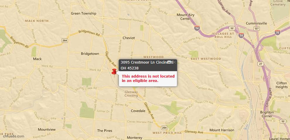 USDA Loan Eligiblity Maps From - Green Twp, OH