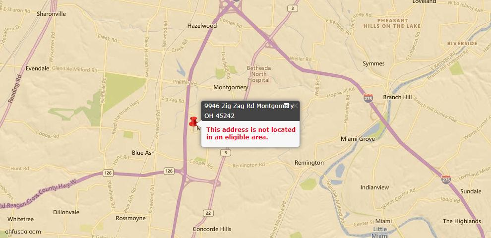 USDA Loan Eligiblity Maps From - Montgomery, OH