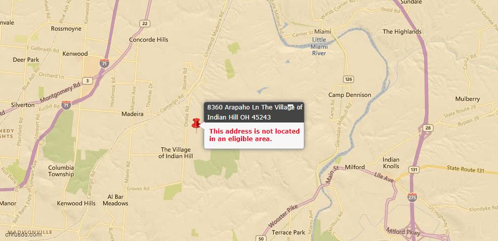 USDA Loan Eligiblity Maps From - Indian Hill, OH